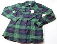 Matchstick Argus Women's Long Sleeve Plaid Shirt Green Black Red Size Small New