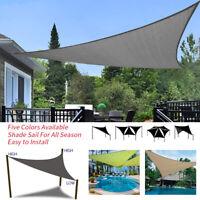 Dreieck Sonnenschutz Segel Wasserdichte Garden Zelt Baldachin Abdeckung L/P