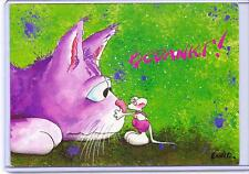 DIDDL DIDDLE MOUSE WITH PINK CAT POSTCARD POSTED