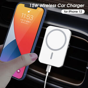 15W Wireless Car Charger Magnetic Mount For iPhone 12/12 Pro/12 mini/12 Pro Max