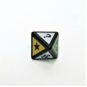 2005 TV Scene It DVD Board Game Replacement Parts Pieces- 8 Sided Category Die