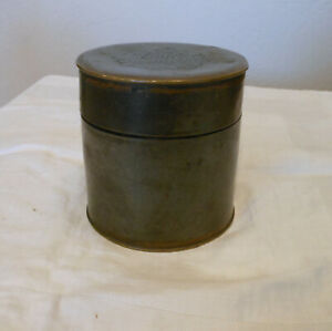 Chinese Brass Tea Caddie Pottery Lined