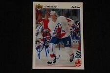 HOF AL MacINNIS 1991-92 UPPER DECK CANADA CUP SIGNED AUTOGRAPHED CARD #8 FLAMES