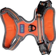 SPORTS DOG HARNESS IN NEON ORANGE BY DOG & CO - AJUSTABLE REFLECTIVE / LARGE