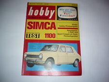 Rivista HOBBY 18.10.1967 la pubblicità SIMCA 1100 VW Maggiolino FORD FIAT CITROEN DYANE