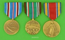 Set of Medals issued by the US for American & European Theater Service WWII WW2