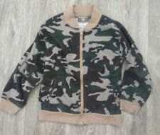 College Boys Camouflage Green zip front Lightweight jacket Size 7