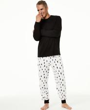 MACY'S Family Pajamas Men's Tree Print Pajama Set sz S Small Christmas Holiday