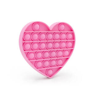 Push Pop Silicone Sensory Fidget Toy Anxiety It Stress Bubble Fidget Pink Heart