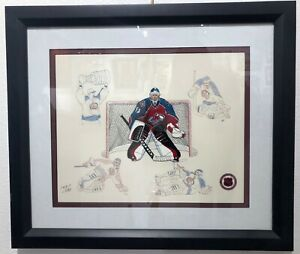 Patrick Roy Cel - The Greatest Goalie (framed, unsigned)