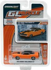 GREENLIGHT MUSCLE 1970 Dodge Challenger R/T Orange w/ Stripe 1/64 DIECAST 13170E