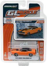 GREENLIGHT MUSCLE 1970 Dodge Challenger R/T Orange w/ Stripe 1/64 DIECAST 13170E