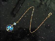Vintage Iridescent Round Crystal Glass Disco Ball Suncatcher Fob