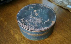 Early Antique Painted Pantry Box Old Nail Construction Primitive