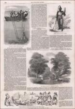 HARD HAT, UNDER WATER DIVING SUITS, Antique, Original + Article, Scarce 1853