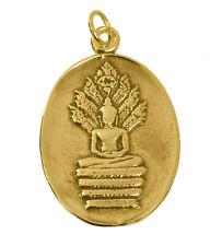 The faceless Spirit of Buddha incarnation buddhism 24K Gold Pltd Charm Jewelry