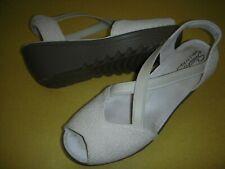 Skechers Parallel - Jellyroll Peep Toe Wedge Heel Sandals Women's 10 M Natural