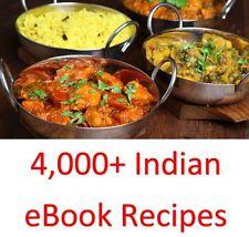 4.000 + indiano ebook libri di cucina ricette & su un DVD ROM