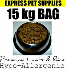 15kg Premium Lamb & Rice Complete Dry Dog Food Hypoallergenic Gluten Free