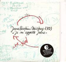 JANE BIRKIN Je M´apelle Jane 2TRACK FRENCH CARDslv  CD single