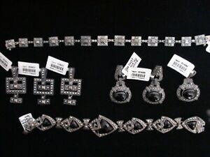 LARGE LOT GEMS TV /  Marcasite & Sterling Silver Marcasite New