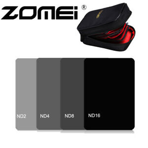 4in1 ND2/4/8/16 Square Neutral Density 150*100mm for Cokin ZLee With Filter Case