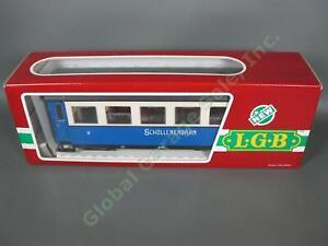 LGB G Scale 3264 Schollenbahn Blue White 2nd Class Passenger Coach Train Car NR