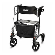 "Lumex LUMLX1000T Hybrid LX Rollator - Titanium Transport Chair W/  8"" Wheels"