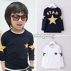 Jungen Mädchen Langärmeliges T-Shirt Baby Kinder Freizeit Sterneaufdruck