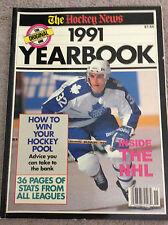 The Hockey News 1991 Yearbook Nhl Ice Hockey Rare Toronto Maple Leafs