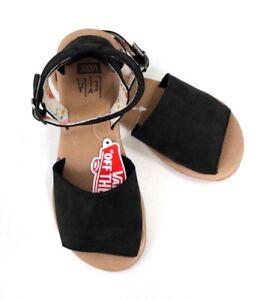 Vans Women's Ankle-Hi Lella Hurst Strappy Sandals Black Size 5