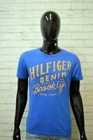 Maglia Uomo TOMMY HILFIGER Taglia S Camicia Polo Shirt Man Manica Corta Blu