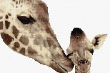 Giraffe & Baby Counted Cross Stitch Kit   Wildlife/Animals Designs In Thread
