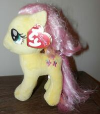 TY Beanie Baby - yellow Sparkle fluttershy pink  Hair 7 inch My Little Pony 2015