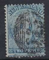 NZ39) New Zealand 1864-71 watermark Large star Chalon 2d Blue perf 12½ SG 115
