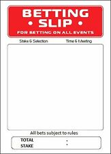 BOOKIES BETTING SLIPS - 25 x 5CM Rice Paper Cake Toppers - Free Delivery