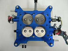 """Holley-QFT-AED Blue Billet Base Plate Assembly 1 3/4"""" 850-1000 CFM Carburetors"""