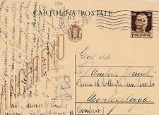 CARTOLINA INTERO POSTALE 30 CENT. 1943 PER SONDRIO   C3-107