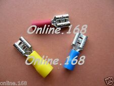 CrimpTerminals Electrical Wire Connectors Female Spade Mixed Red &Yellow 20pcs