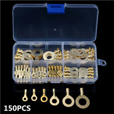 150X Car Insulated Ring Cable Lugs Assorted Wire Cable Connectors Terminals Kit