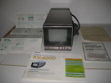 SONY-VINTAGE-ANTIQUE-TRINITRON COLOR TV-MINI TELEVISION (KV-4000) LITES UP-WORKS