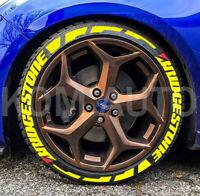 "Bridgestone Tyre Racing Car Reflective Light Sticker 2.25x2.25/"" Black"
