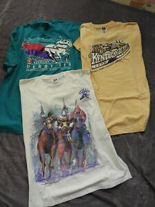 Lot of 3 Kentucky Derby Official Souvenir T-Shirts 1993 – 1994 & 1999