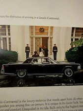 1965 Lincoln Continental Original Print Ad-Marines-8.5 x 10.5""