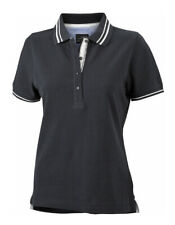 JAMES+NICHOLSON Damen Slim Pima-Baumwolle Polo Shirt S M L XL XXL JN707