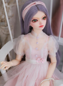New Lace Dress clothes Hair shoes For 1/4 BJD Doll FL Minifee Shushu