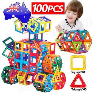 100 Piece Kids Magnetic Blocks Building Toys For Boy Girls Magnet Mini Tiles Kit