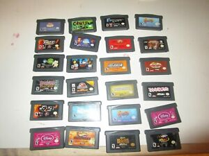 LOT OF 24 NINTENDO GAME BOY ADVANCED GAMES