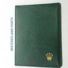 Rolex Green Leather Watch Wallet 100.00.41 GENUINE ORIGINAL NEW NOS