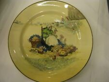 """Art Deco 1920/30's Royal Doulton 'THE FLOWER SELLER' Series Ware Large 10"""" Plate"""